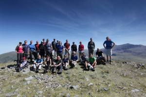 The gang on top of Y Garn