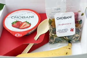 Fuel, the Chobani way. I'll be gutted when they stop sending me this stuff!