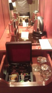The poshest tea facilities...you don't get this in a Premier Inn!