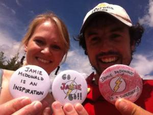 """Heather just rocked up on the side of the highway with some motivational badges"""