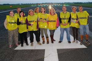 Me and the other marshals modelling the beautiful race track.