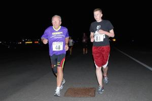 All the runners gave it everything to cover the mile as quickly as possible.