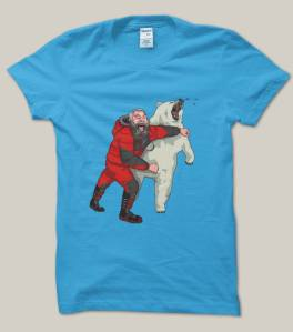 Sir Brian, punching a polar bear, on a t-shirt I MUST own!