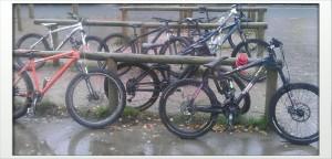 A rapidly filling bike park means a rapidly filling cafe!