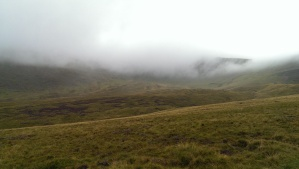 Somewhere up there was a mountain and a hell of a lot of wind!