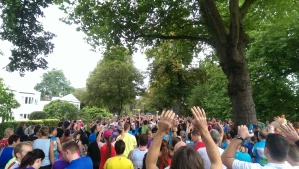 3,700 runners lined up on the start...and I was behind 3,600 of them I think!