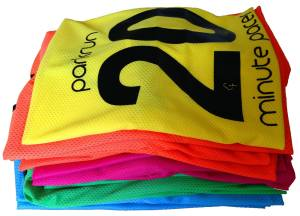 The new pacing bibs at Cheltenham parkrun are just lovely!