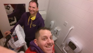 The glamour of a disabled toilet for changing in!