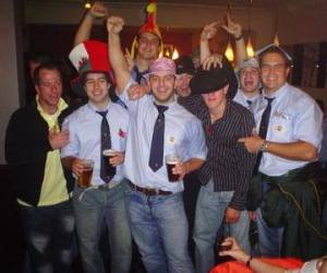 End of season minibus away day. League promotion and silly hats, I miss those days!